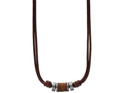 ketting met hanger - Fossil | leder