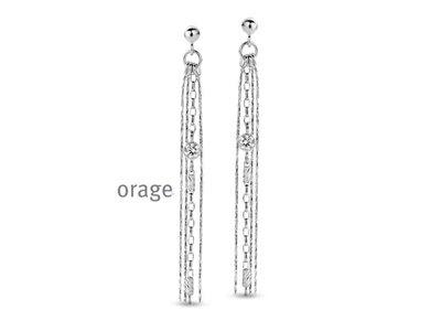 oorbellen - ORAGE | zilver
