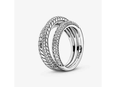 ring - PANDORA   zilver
