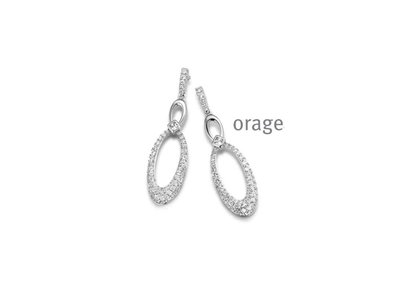 oorbellen - ORAGE   zilver
