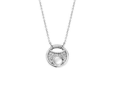 ketting met hanger - TI SENTO | zilver