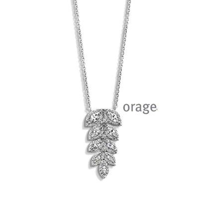 ketting met hanger - ORAGE | zilver